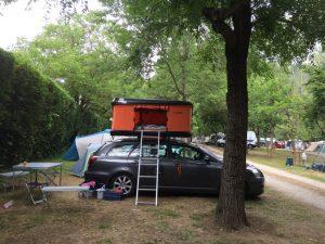 Dachzelt Miles Campingplatz