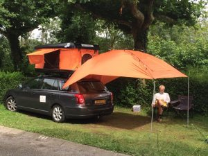 Dachzelt Miles Skadu Markise Campingplatz