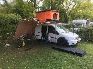Dachzelt Miles Campingplatz Markise