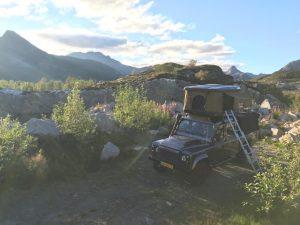 Dachzelt Miles Natur Ausblick Land Rover